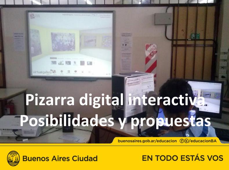 Pizarra digital interactiva Posibilidades y propuestas