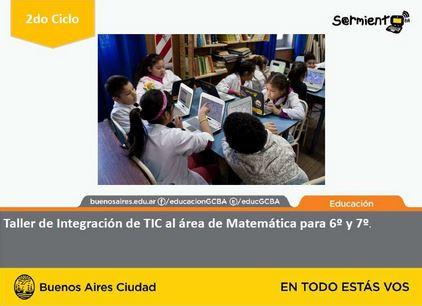 Taller de integración de las TIC al área de Matemática para sexto y séptimo grado